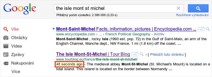 Rychlá indexace do Googlu